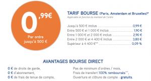 tarifs bourse direct